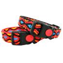 Hundehalsband im Indianer Look 44-74cm 25mm Schwarz