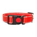 Hundehalsband Reflektierend Rot 24-34cm / 25mm