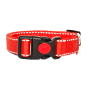 Hundehalsband Reflektierend Rot 44-74cm / 20mm