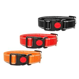 Hundehalsband Reflektierend Orange 34-54cm / 20mm