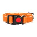 Hundehalsband Reflektierend Schwarz 34-54cm / 25mm