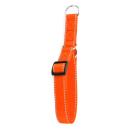 Reflektor Dressurhalsband mit Stoppring Orange 44-74cm / 20mm