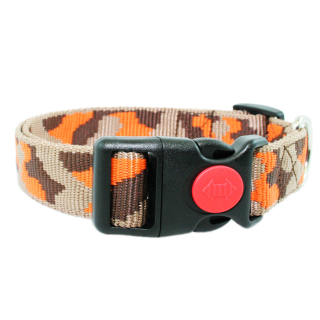 Hundehalsband Hellbraun/Braun/Orange 24-34cm / 20mm