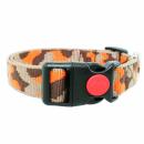 Hundehalsband Hellbraun/Braun/Orange 24-34cm / 20mm