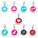 Hundemarke Herz Rot