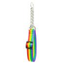 Regenbogen Zughalsband mit Zugkette 44-74cm / 20mm