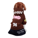 D&D Hundepullover mit Kapuze Braun L (34 cm)