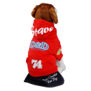 D&D Hundepullover mit Kapuze Rot