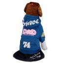 D&D Hundepullover mit Kapuze Dunkelblau