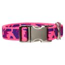 Hundehalsband Camouflage Neonrosa Alu-Max® 24-34cm /...