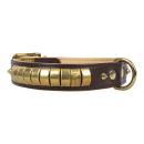 Lederhalsband Chesmu Gold-Messing
