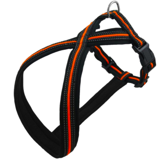 Neon Orange Hundegeschirr M / 45-70cm / 40mm