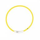 Duvo+ Flash Light Ring Leuchthalsband Nylon USB M 45 cm gelb