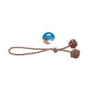 Knotenball mit Handschlaufe Seil 43 cm zwei Bälle