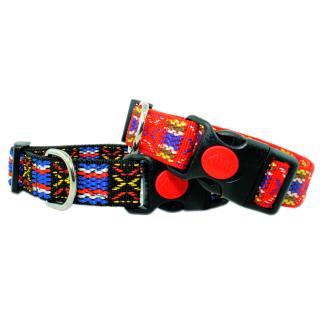 Hundehalsband Magic Schwarz 25mm 34-54cm