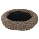 Hundekorb Siesta rund  aus Baumwollseil